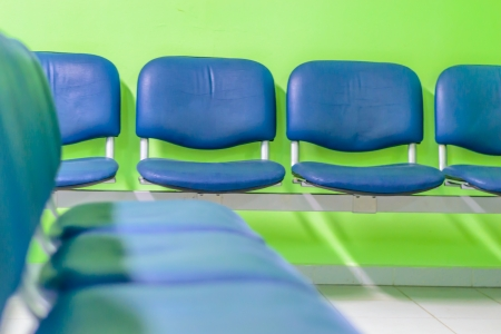 Hospital Waiting room with empty seats  photo