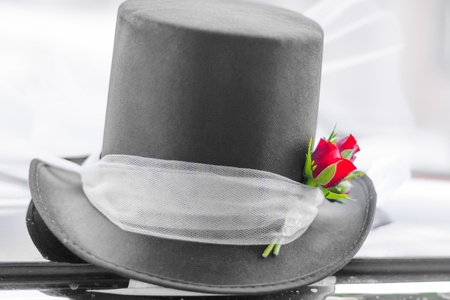 Wedding top hat photo