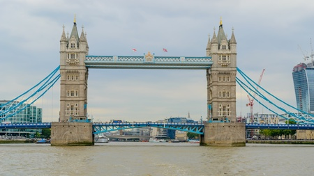 Shot at the day of London bridge in London, England photo