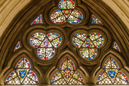 Stained glass window - background - church Stock Photo