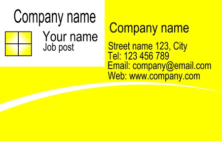 Vector corporate business card and logo templates in yellow and white design. Stock Vector - 22108859