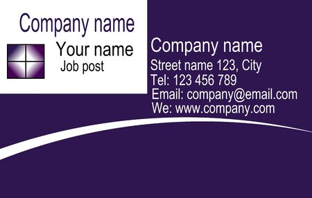 Vector corporate business card and logo templates in purple and white design. Stock Vector - 22108862