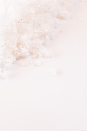 Detail of heap salt on the white.