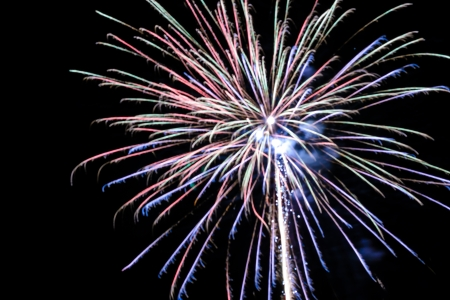 Festive firework. Celebrate of independent or new year day.