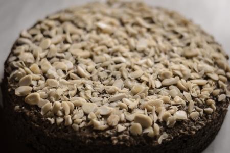 Whole nut cake  Delicious dessert  Standard-Bild