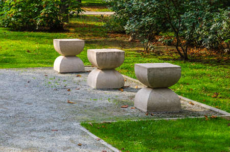 constantin: Sculpture made ​​by Romanian artist Constantin Brancusi one day autumn