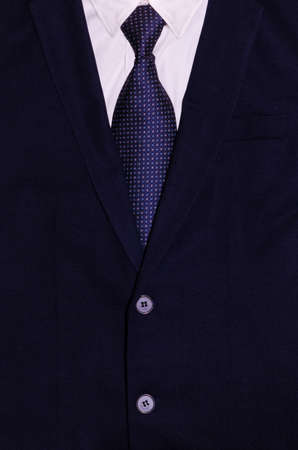 Businessman suit with a white Shirt and a necktie photo