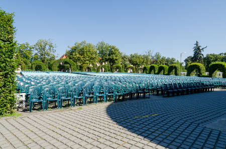 Arena full of empty chairs in the Park