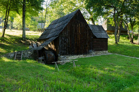 water mill: Traditional water mill for grinding from Romania Stock Photo
