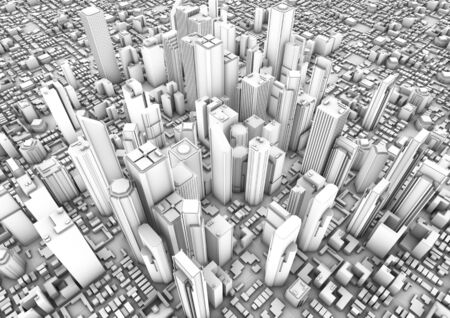 edifice: 3d render of a modern city