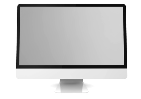 isolated render of a monitor