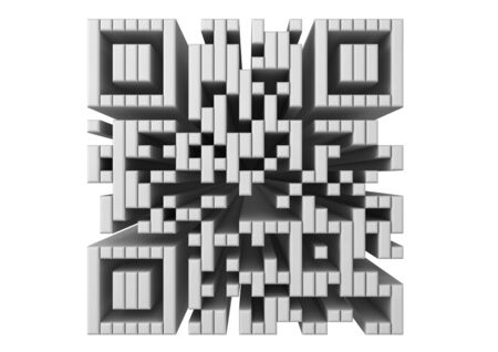 render of a QR code photo