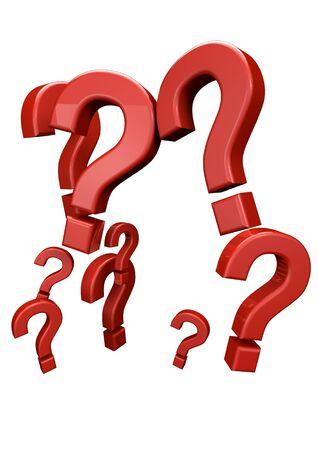 interrogativa: hacer de un grupo de signos de interrogación