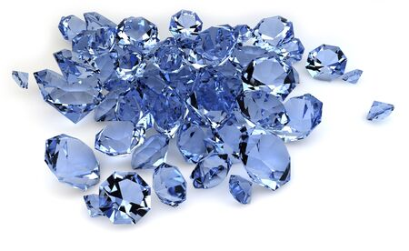 topaz: render of a group of diamonds Stock Photo