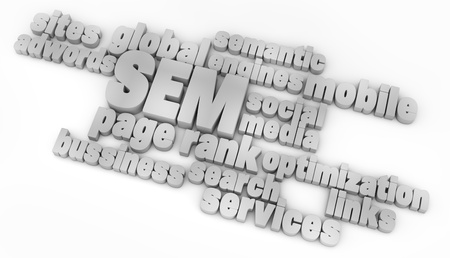Render of the text SEM Stock Photo - 15081203