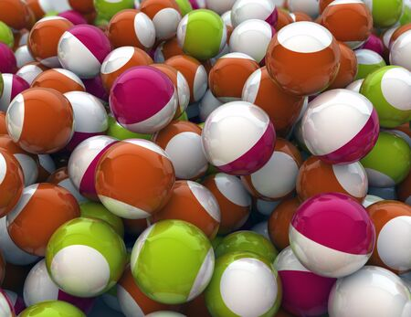 background of funny colorful spheres photo