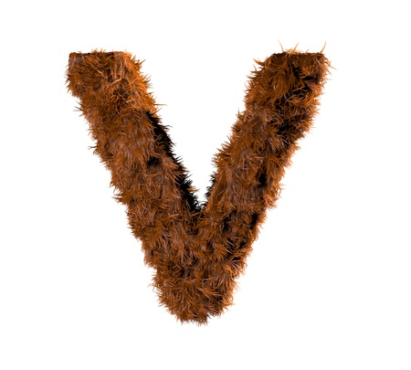 3d render of a hairy v Stock Photo