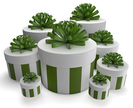 3d render of a group of white gifts Stock Photo - 15353809