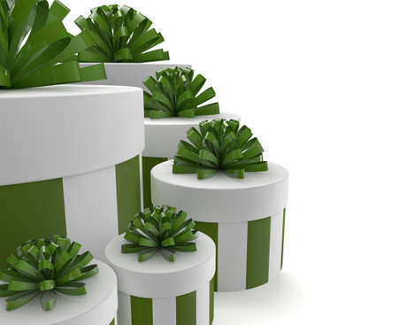 render of a group of green gifts Stock Photo - 15353807
