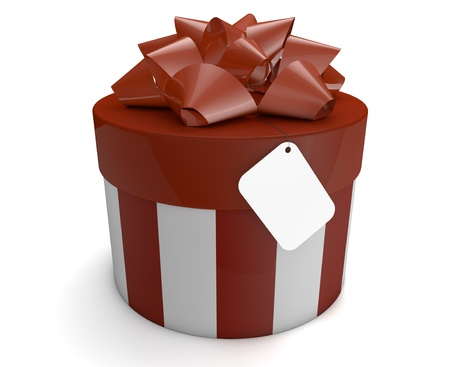 render of a gift with an empty card Stock Photo - 15353802