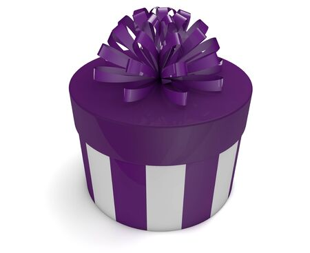 3d render of a violet gift photo