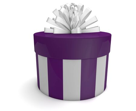 render of a gift with a white bow photo
