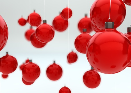 render of a group of christmas balls Stock Photo