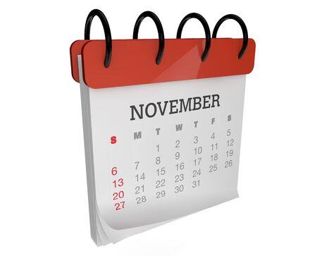 calendario noviembre: rinde de una plaza mes noviembre