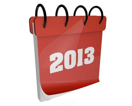 render of a calendar with 2013 on the cover Stock Photo - 15602922
