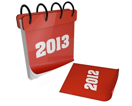 render of a 2013 calendar with 2012 on the floor Stock Photo - 15602925