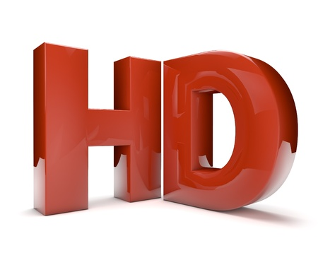 high definition: 3d render of the hd text Stock Photo
