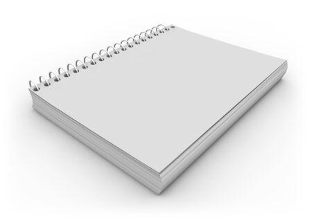 notebook cover: render of an empty notebook Stock Photo
