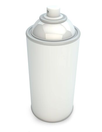 render of an empty spray can photo