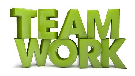 contruction: render of the text teamwork