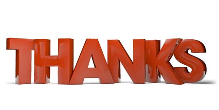 thanks a lot: render of the text thanks