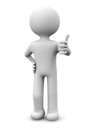 render of a man with the thumb up Stock Photo