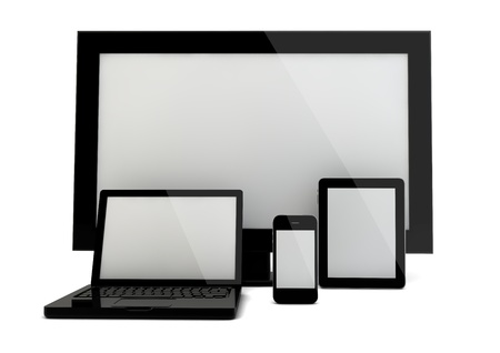 3d render of four devices