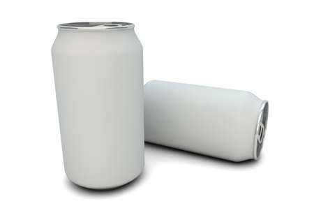 blanck: render of white empty cans
