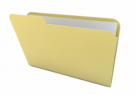 render of a yellow folder Stock Photo - 16378533