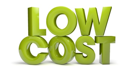 render of the text low cost