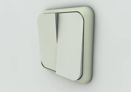 render of a switch on a wall photo