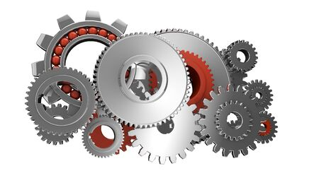 render of a group of isolated gears