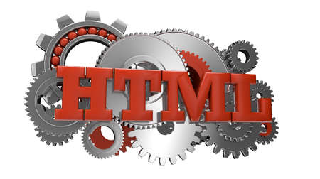 render of gears and the text html photo