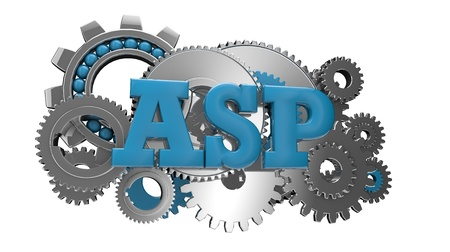 ajax: render of gears and the text ajax Stock Photo
