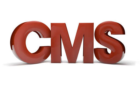 cms: render of the text cms Stock Photo