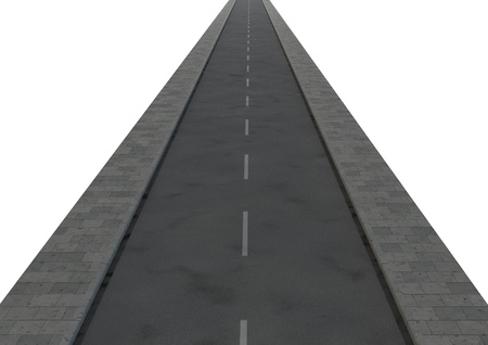 oportunity: render of an isolated road Stock Photo