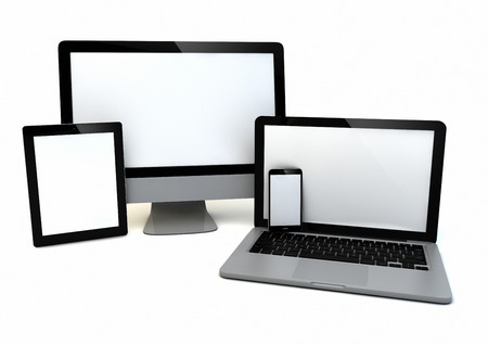 render of a group of technology devices
