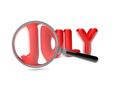 calendario julio: render de un análisis lupa julio