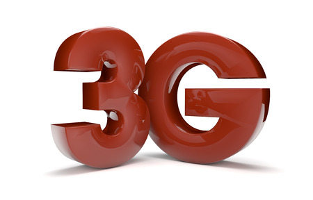 wireles: render of the text 3g Stock Photo