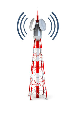 Render of a communication tower